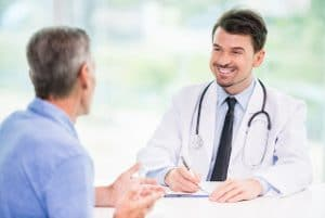 Man talking to doctor about erectile dysfunction - Rio Grande Urology