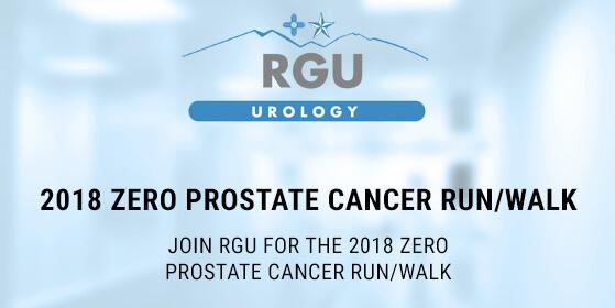 Join RGU for the 2018 ZERO Prostate Cancer Run/Walk